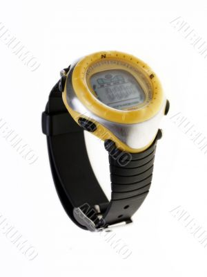 Yellow waterproof watch