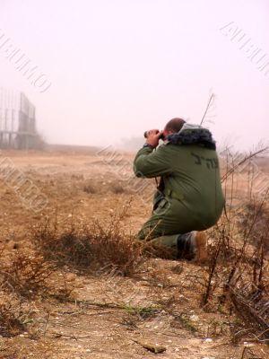 Israeli officer near Gaza strip border
