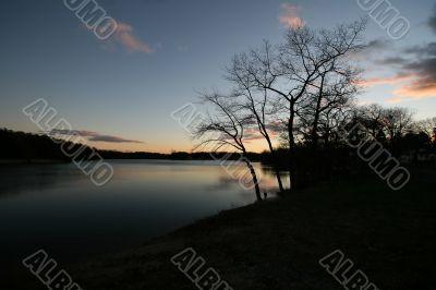 Tranquil Lake at Sunset