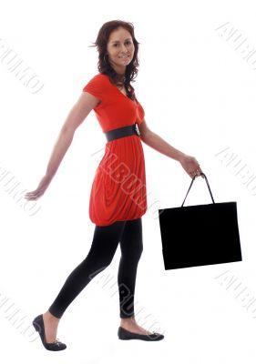 pretty woman in shopping mode