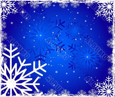 Surreal snowflakes design