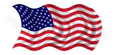 National flag of usa waving in the wind