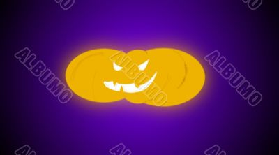 small soft focus glowing pumpkin