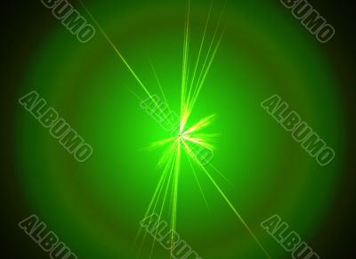 green plasma space rave