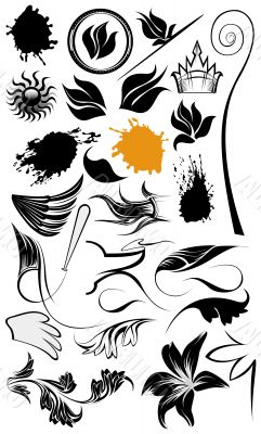 Ornament illustrations and design elements