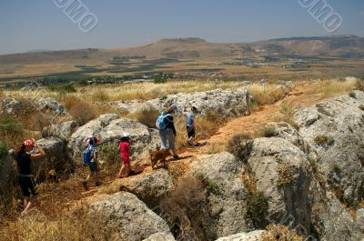 Galilee landscape - hike with children