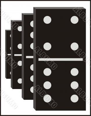 Vector dominos graphic