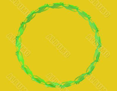 Green circular pattern arrangement