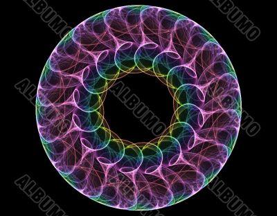 Smoke swirl iris