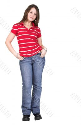 casual young girl - full body