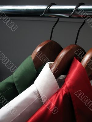 Shirts representing the colors of Italian flag