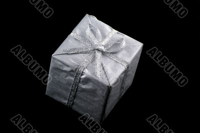 Silver christmas present.