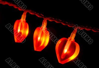 Glowing red garland