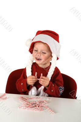 eating christmas candy canes