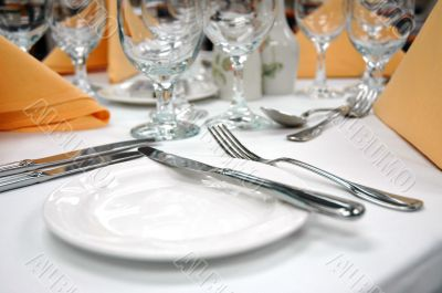 Formal Dinner Setting - Bread Plate