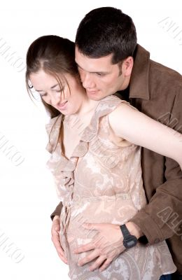 beautiful couple expecting a baby