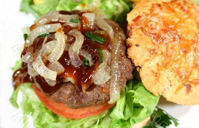 Gourmet Burger With Steak Sauce