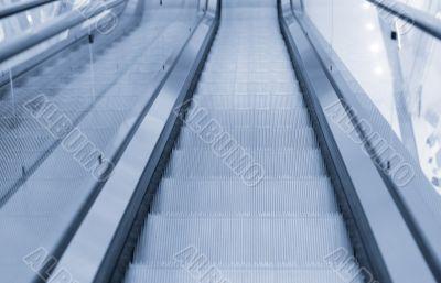 Escalators in trade center