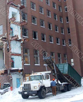 Winter Demolition Site