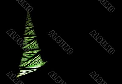 Abstract Christmas tree and copyspace