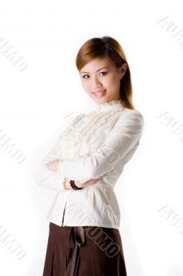 confident smiling female business executive