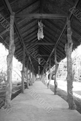 walkway in black & white