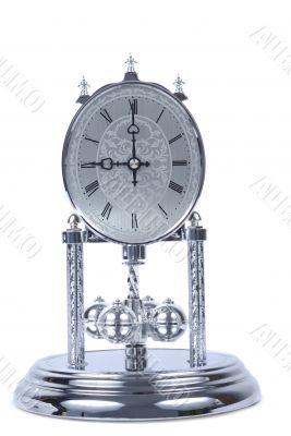 Chrome Old Fashioned Clock