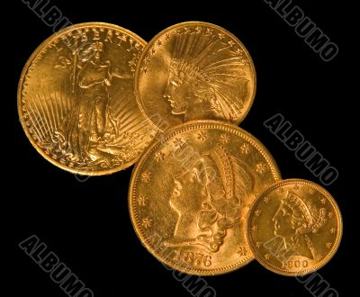 United States Historic Gold Coins