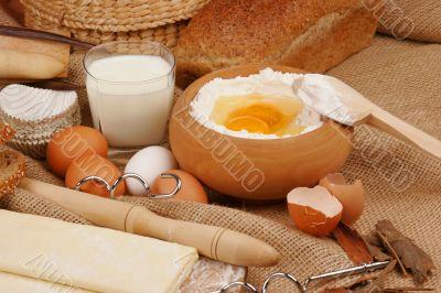 Baking ingredients preparation