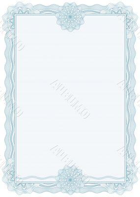 diploma or certificate / border / A4 / vector