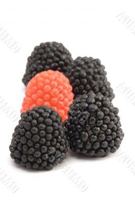 fruit drops berry close up