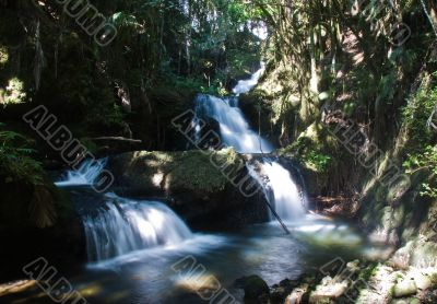 Waterfall with blurred water flow
