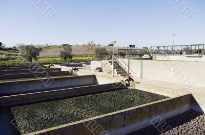 Wastewater sanitation plant