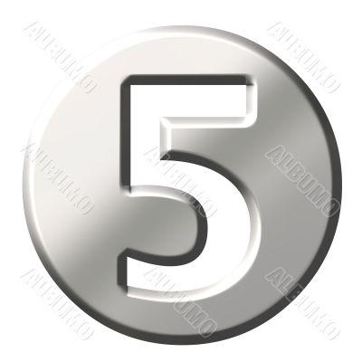 3D Steel Number 5