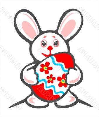 bunny and ornate easter egg