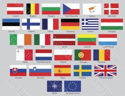 27 European Union flags