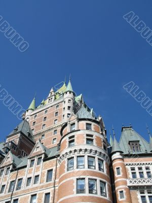 chateau frontenac in quebec, canada