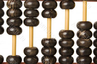 Abacus with beads as scale