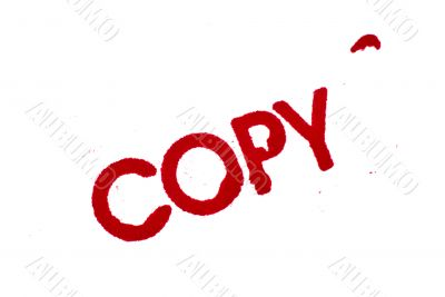 Copy: Rubber Stamp Print Isolated