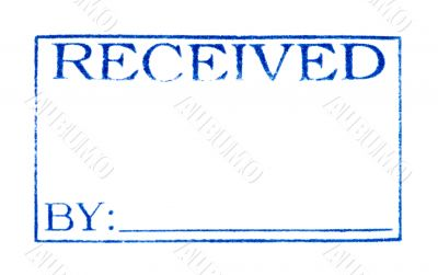 Received Date: Rubber Stamp Print Isolated