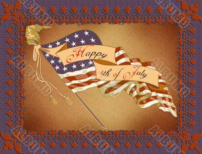 Greeting Card - 4th July