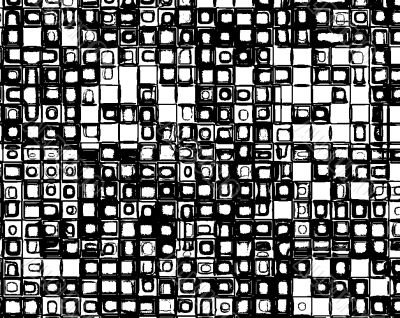 Funky 1960s square pattern