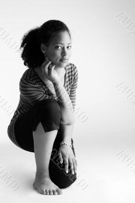 Sitting on my knee