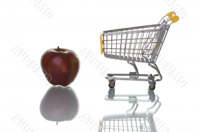 Buying apples at the supermarket