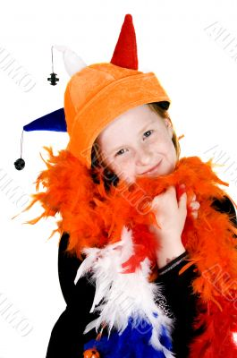 little girl ready to celebrate queensday