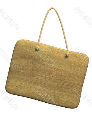 Background - the wooden tablet on a cord