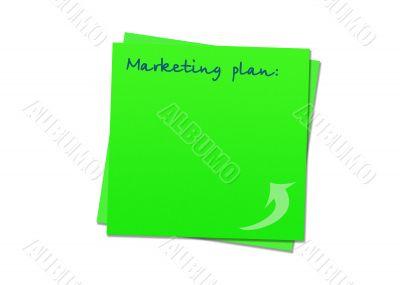Sticky note marketing plan