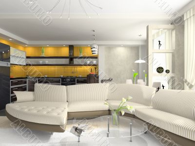 Interior of the modern apartment