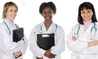 Multi-ethnic medical team