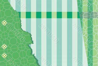 Green parquet striped background